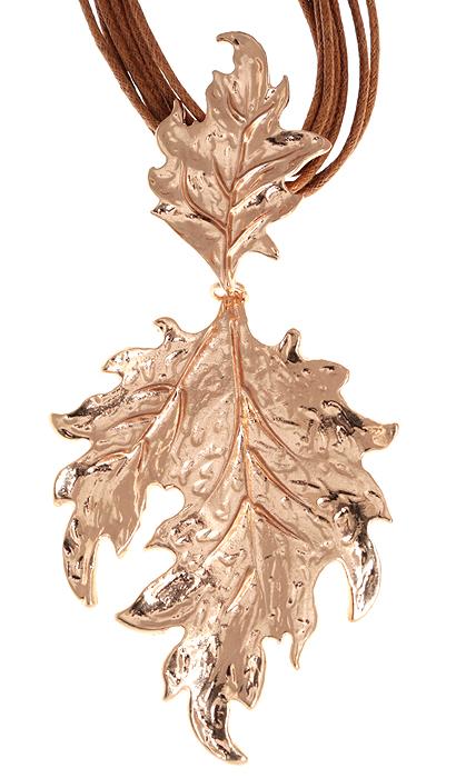 Колье Золотые листья. Текстиль, гипоаллергенный ювелирный сплав. Nina Ford, Испания10099771Колье Золотые листья из коллекции Sefarda. Текстиль, гипоаллергенный ювелирный сплав. Nina Ford, Испания. Размер - полная длина 42-48 см, регулируется за счет застежки-цепочки. Подарочная упаковка.