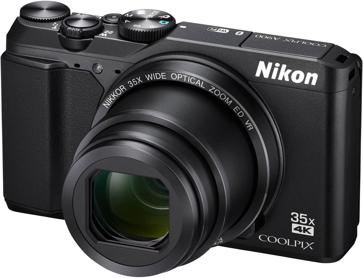 Nikon Coolpix A900, Black цифровая фотокамераVNA910E1Исключительное качество оптики NIKKOR в компактном корпусе Nikon Coolpix A900, который прекрасно впишется в любой стиль жизни. Снимайте великолепные пейзажи во время путешествий с высокой детализацией с помощью объектива с мощным 35-кратным оптическим зумом, который можно расширить до 70-кратного с помощью функции Dynamic Fine Zoom, или запечатлевайте памятные моменты на четких видеороликах в формате 4K UHD. Поворотный экран и несколько ручных режимов экспозиции (P/S/A/M) открывают простор для творчества, а приложение SnapBridge позволяет поддерживать соединение фотокамеры с интеллектуальным устройством. Благодаря высокоскоростной АФ вы будете мгновенно готовы запечатлеть интересный момент, а также сможете легко повторно поймать объект в кадр, воспользовавшись кнопкой возврата зуммирования, и без усилий создавать великолепные интервальные видеоролики. В компактном корпусе фотокамеры Nikon Coolpix A900 кроется сила легендарной оптики NIKKOR, которая обеспечивает...