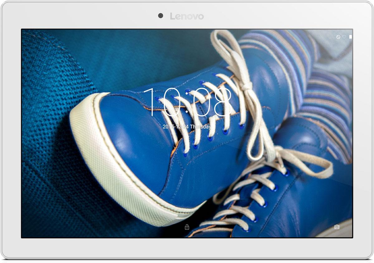 Lenovo Tab 2 A10-30L (TB2-X30L), White (ZA0D0108RU)ZA0D0108RU10,1-дюймовый портативный планшет Lenovo Tab 2 A10-30, созданный для развлечений. HD-дисплей высокого разрешения (1280 х 800) обеспечивает потрясающее качество видео, фотографий и игр. Ультратонкий корпус (менее 9 мм) придает планшету TAB 2 A10-30 непревзойденную портативность. Двойные динамики обеспечивают высокое качество звучания. Планшет TAB 2 A10-30 превосходно подходит для прослушивания музыки и просмотра видео. Черытехъядерный процессор Qualcomm с частотой 1.3 ГГц и оперативная память 2 ГБ позволяют использовать все современные мобильные приложения. Встроенный накопитель емкостью 16 ГБ обеспечит достаточно места для хранения ваших медиафайлов. Благодаря пятимегапиксельной задней камере и двухмегапиксельной фронтальной камере вы сможете насладиться отличным качеством изображения, общаясь в видеочатах с семьей и друзьями. Поддержка высокоскоростных сетей 4G-LTE позволит вам оставаться на связи где бы вы ни...