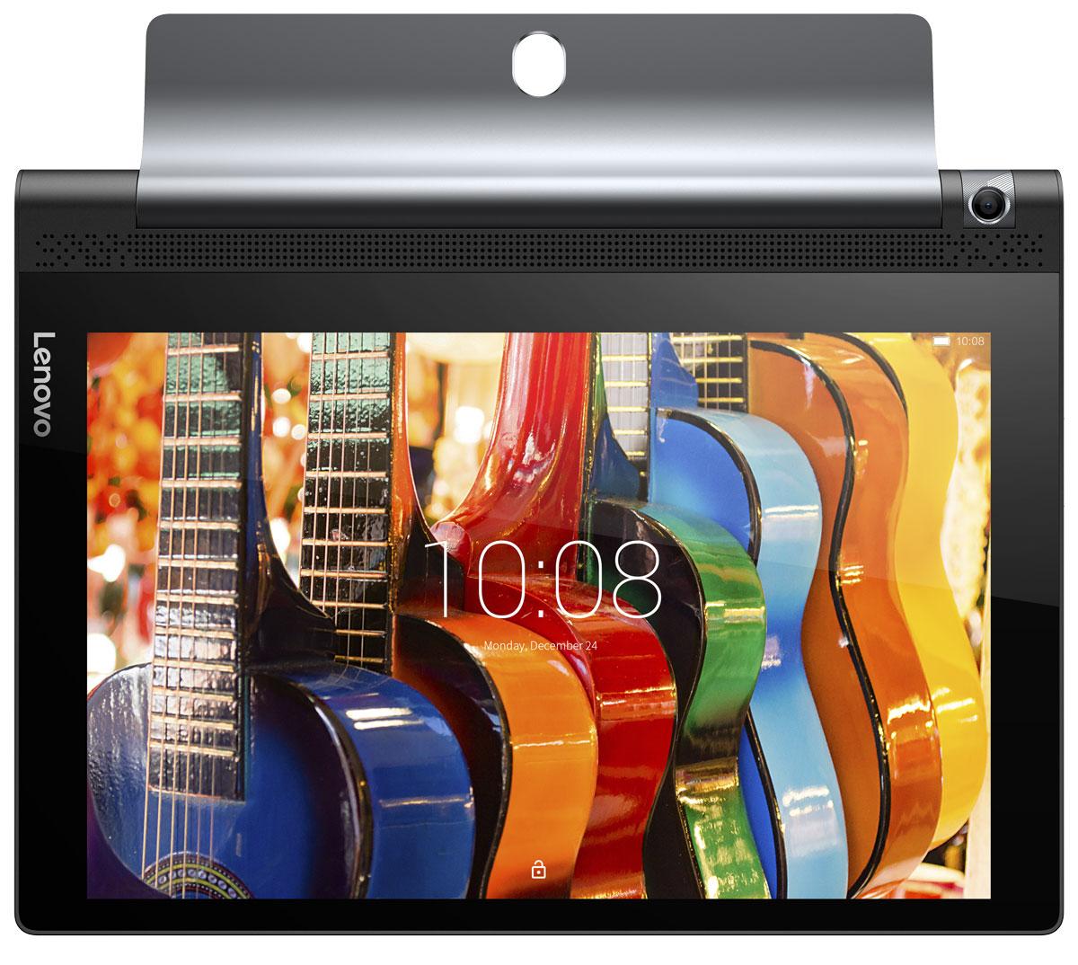Lenovo Yoga Tab 3 10 (YT3-X50M), BlackZA0K0021RUПросматривайте рецепты, когда готовите, проверяйте новости в социальных сетях во время обеда и смотрите фильмы во время тренировок. В инновационной конструкции планшета Lenovo Yoga Tab 3 цилиндрический аккумуляторный блок и подставка расположены сбоку устройства, благодаря чему центр тяжести смещен и устройство можно использовать в различных режимах: книга, клавиатура, консоль и картина. HD-разрешение экрана планшета Lenovo Yoga Tab 3 превращает его в идеального помощника для игр и веб- серфинга. Невероятная яркость обеспечивает отличное качество изображения под любым углом просмотра и при любом освещении. Изображение в играх четкое, а видео просто приятно смотреть. Lenovo Yoga Tab 3 обеспечивает насыщенный объемный звук уровня домашнего кинотеатра, которым не может похвастаться ни один планшет. Два встроенных фронтальных динамика дарят мощное объемное звучание благодаря поддержке технологии Dolby Atmos. Громкий, чистый и живой звук — даже без...