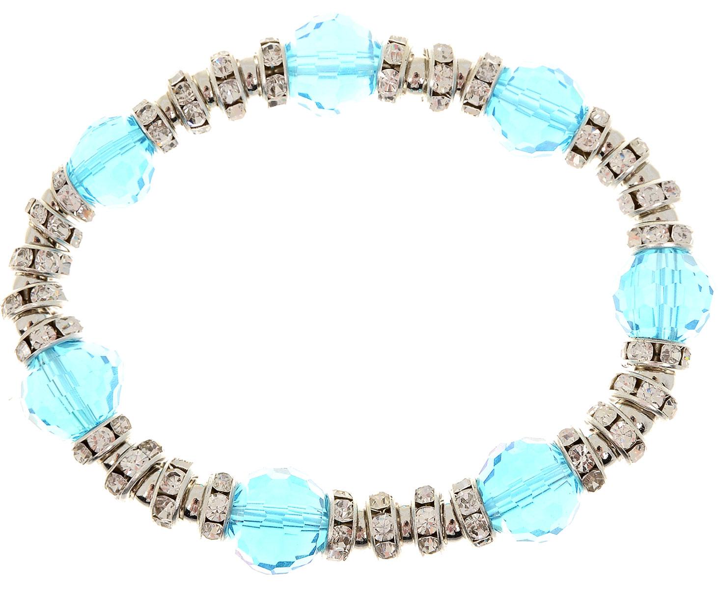 Браслет Taya, цвет: синий. T-B-11918-BRAC-BLUET-B-11918-BRAC-BLUEУдобный браслет на резинке в серебристо-голубых тонах, простой, легкий, универсальный. Можно носить его как дополнение к часам или к другим браслетам TAYA.