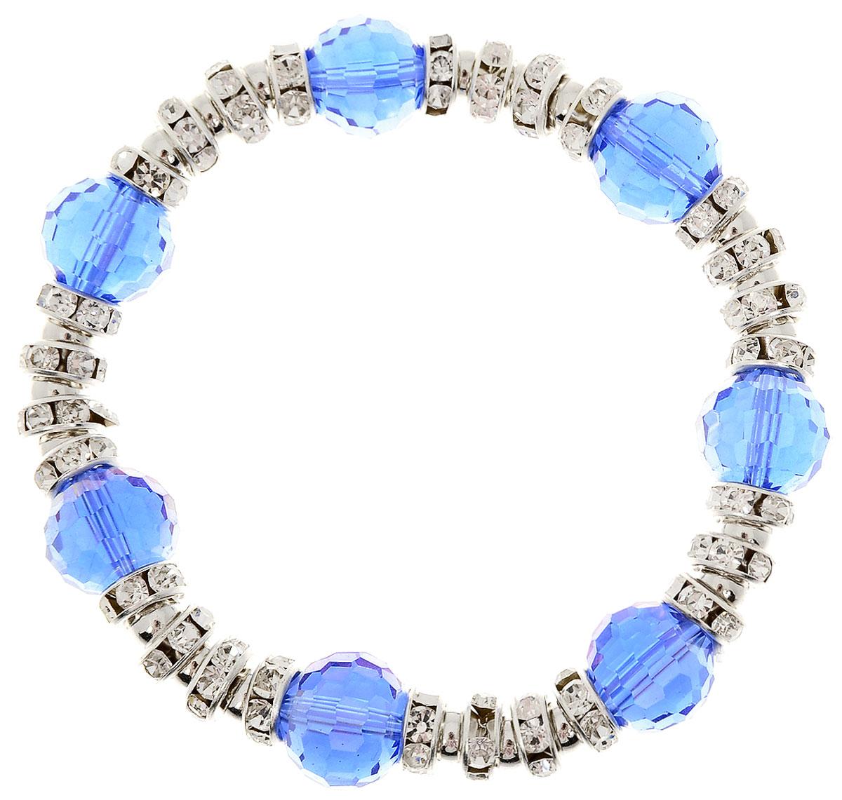 Браслет Taya, цвет: темно-синий. T-B-11921-BRAC-NAVYT-B-11921-BRAC-NAVYУдобный универсальный браслет на резинке. Можно носить его как дополнение к часам или к другим браслетам TAYA.