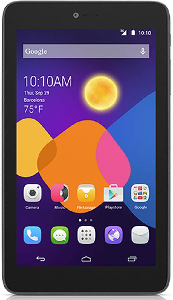 """Alcatel I216X PIXI 7 3G, BlackI216X-2AALRU1Планшетный компьютер Alcatel Pixi 7 3G имеет оптимальный дисплей с самой мобильной диагональю 7"""", построенный на основе TFT- матрицы с хорошей цветопередачей, высокой контрастностью и большими углами обзора. Разрешение экрана составляет 960x540 пикселей. Это не предел мечтаний, но для гладкой картинки вполне достаточно. Элегантный корпус минимальной толщины (менее 9 мм, не каждый флагман может таким похвастать!) скрывает в себе мощный 2-ядерный процессор, емкую батарею на 2840 мАч и встроенный 3G/GSM-модуль. Причем с помощью последнего можно не только выходить во всемирную паутину, но и вести обычные голосовые разговоры или обмениваться SMS-сообщениями. Планшет сертифицирован EAC и имеет русифицированный интерфейс меню и Руководство пользователя на русском языке."""