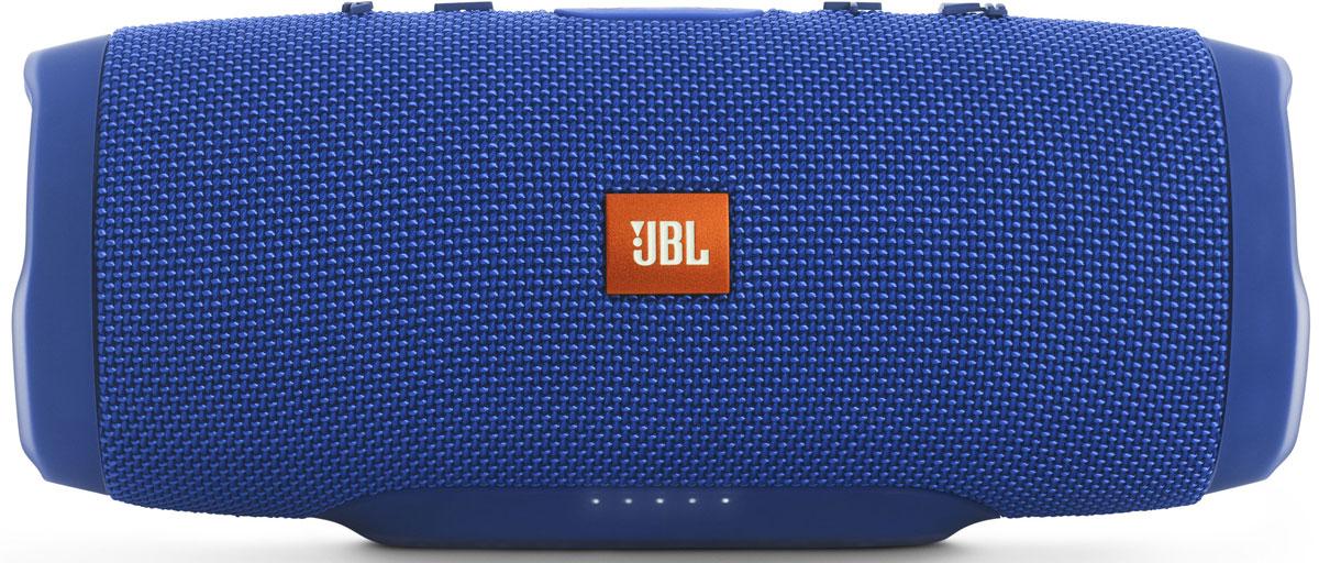JBL Charge 3, Blue портативная акустическая системаJBLCHARGE3BLUEEUУникальная беспроводная портативная акустическая система JBL Charge 3 гарантирует мощный стерео-звук и источник энергии в одном устройстве. Благодаря водонепроницаемому прорезиненному тканевому корпусу вечеринку с Charge 3 можно устроить в любом месте - у бассейна и даже под дождем. Аккумулятор высокой емкости на 6000 мАч гарантирует бесперебойную работу в течение 15 часов и позволяет заряжать смартфоны и планшеты по USB. Встроенный микрофон с шумо- и эхоподавлением гарантирует идеально чистый звук во время телефонных разговоров по нажатию одной кнопки. Подключайте дополнительные колонки с поддержкой JBL Connect по беспроводному соединению для еще более мощного звука.