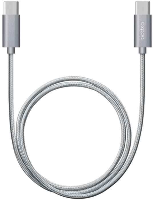 Deppa Alum, Graphite дата-кабель USB Type-C (1,2 м)