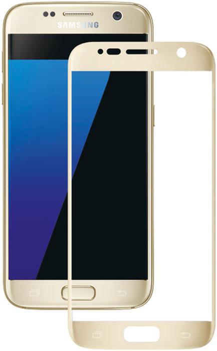 Deppa защитное стекло для Samsung Galaxy S7, Gold (3D)62001Защитное 3D-стекло Deppa полностью повторяет форму дисплея Samsung Galaxy S7, обеспечивая его 100% покрытие. Скругленный край защищает боковые грани устройства, приятен на ощупь, создает ощущение целостности экрана. Стекло обладает всеми необходимыми свойствами для максимальной защиты экрана вашего устройства. Цвета 3D-стекла представлены в лаконичном стиле Samsung.