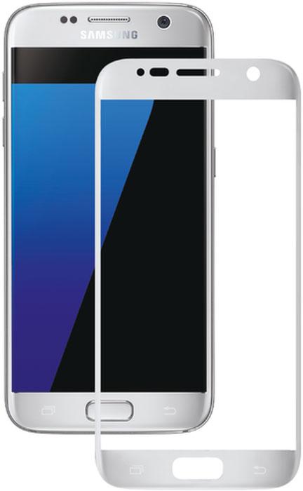 Deppa защитное стекло для Samsung Galaxy S7, Silver (3D)62002Защитное 3D-стекло Deppa полностью повторяет форму дисплея Samsung Galaxy S7, обеспечивая его 100% покрытие. Скругленный край защищает боковые грани устройства, приятен на ощупь, создает ощущение целостности экрана. Стекло обладает всеми необходимыми свойствами для максимальной защиты экрана вашего устройства. Цвета 3D-стекла представлены в лаконичном стиле Samsung.