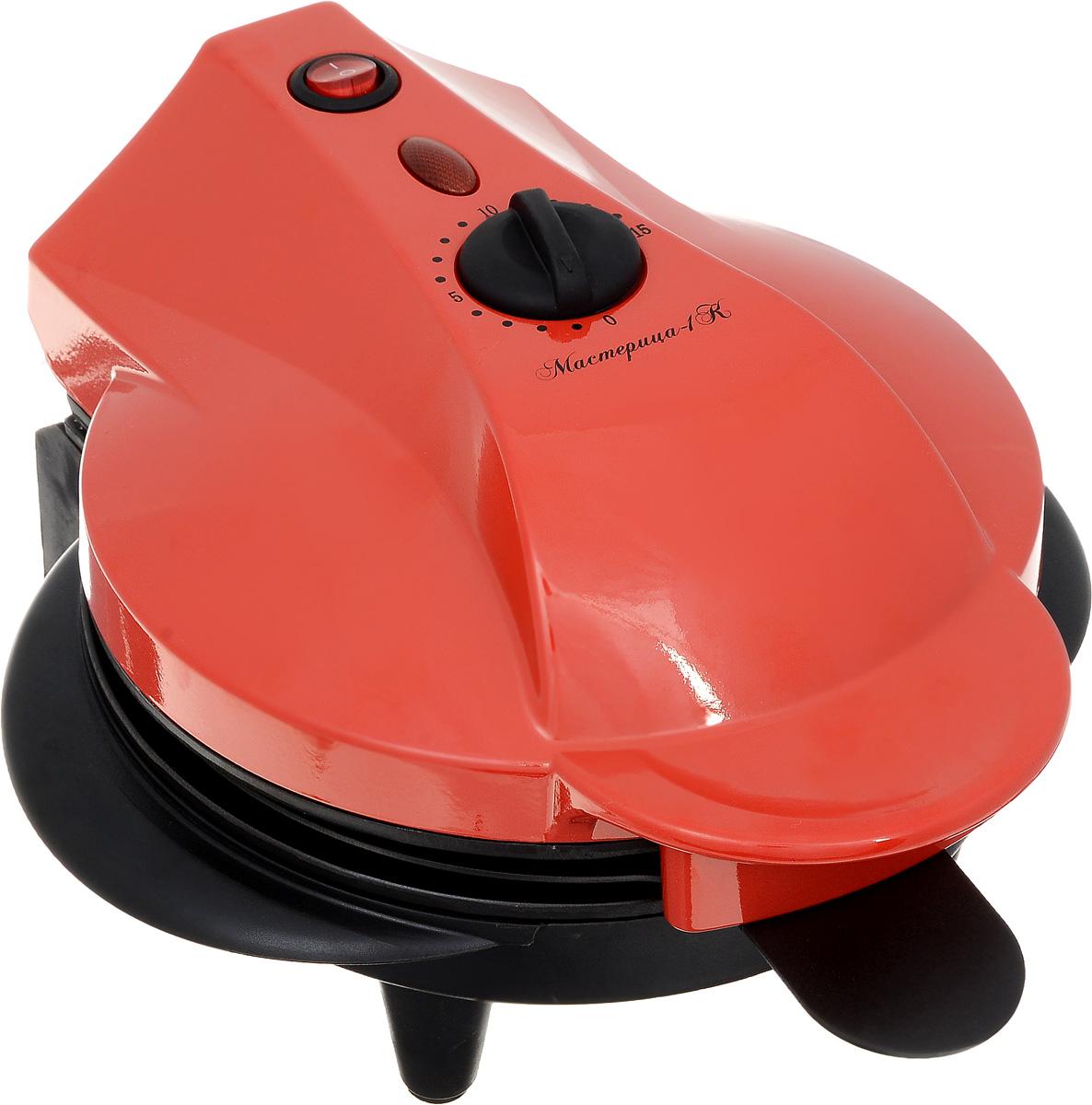 Великие Реки Мастерица-1К печьМастерица-1КПечь Мастерица-1К имеет4 сменных панели: панель для котлет/кексов/пирогов,панель для омлета, панель для гриля, панель для пиццы-пирогов. Благодаря антипригарному покрытию ваша выпечка никогда не подгорит. Модель станет отличным подарком для любителей быстрой и вкусной пищи. Мастерица-1К долгие годы будет безупречно работать и станет лучшим помощником на кухне для тех, кто ценит свое время и любит вкусно перекусить. Регулируемая мощность, таймер на 15 минут.