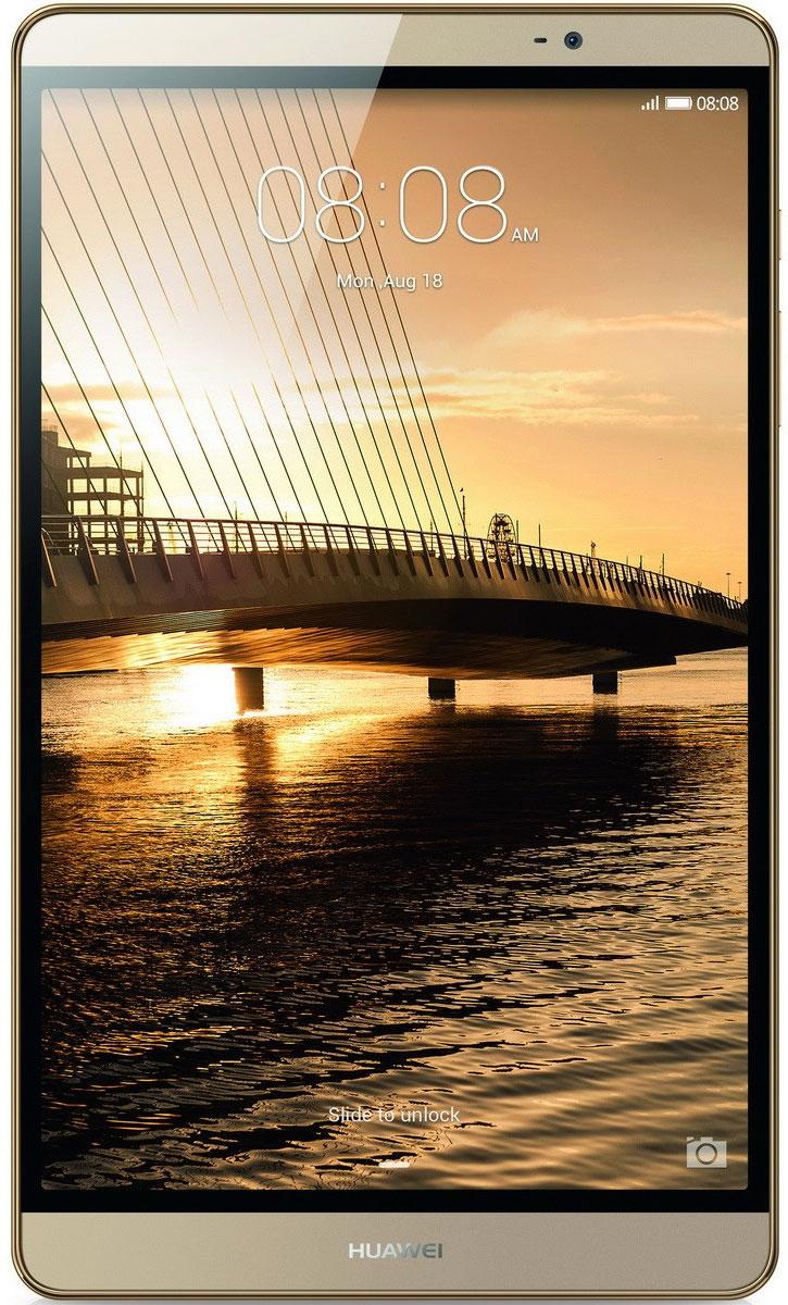 Huawei MediaPad M2 8.0 LTE (32GB), Gold53017939Чистые линии и сглаженные края алюминиевого корпуса нового планшетного ПК Huawei MediaPad M2 8.0 LTE выделяют его из ряда планшетов этого класса. Толщина планшета всего 7,8 мм! Стильный, эргономичный дизайн вашего планшета с тонкой рамкой обязательно обратит на себя внимание. Суперчеткий экран (разрешение 1920 х 1200) и кристально чистое стереозвучание, обеспечиваемое двумя динамиками и технологией DTS, подарят вам незабываемые ощущения при просмотре видео или прослушивании музыки. Высокая производительность и длительное время работы без подзарядки достигаются благодаря 8-ядерному процессору и батарее 4800 мАч. Huawei MediaPad M2 8.0 LTE - превосходное устройство для по-настоящему бескомпромиссных пользователей. Планшетный ПК Huawei MediaPad M2 8.0 LTE совместим с умными часами Huawei Talk Band, первым в мире устройством, объединяющим в себе функции Bluetooth-гарнитуры и умных часов.Talk Band поддерживает до 7 часов разговора (в режиме голосовых...