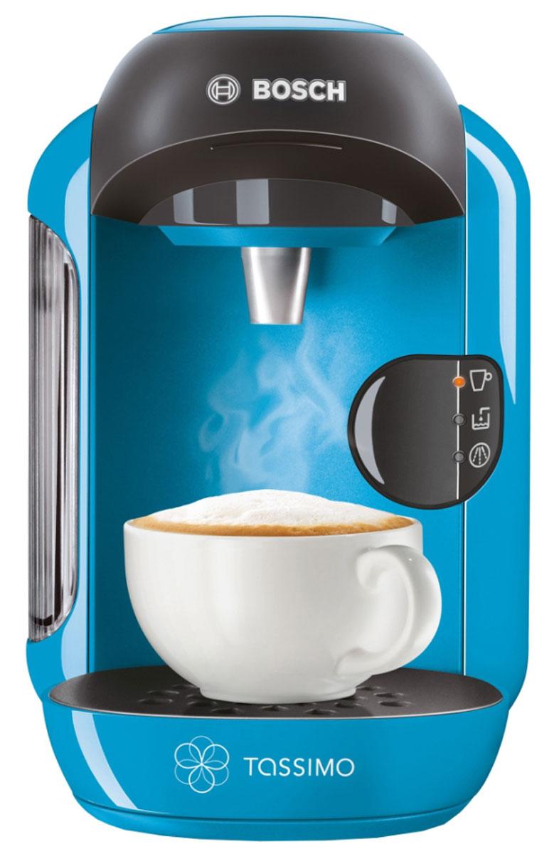 Bosch TAS1255 капсульная кофемашинаTAS1255Компактный размер – большие возможности! Встречайте Tassimo Vivy – самую компактную среди кофемашин Tassimo! Все кофемашины Tassimo имеют проточный водонагреватель, который обеспечивает быструю готовность к работе, оптимальный режим приготовления выбранного напитка, а также являются энергоэкономичными. Диск имеет свой уникальный штрих-код, который содержит информацию о способе приготовления напитка (количестве воды, температуре приготовления, времени заваривания, размере порции). Прибор автоматически считывает штрих-код, нанесенный на T-диск, и понимает, какой напиток приготовить. Достаточно взять T-диск, вставить в блок заваривания и нажать на кнопку. Напиток готов. Кофемашина имеет программу автоматическоего отключения после цикла заваривания и программу автоматической очистки и удаления накипи (сервисный T-диск в комплекте).