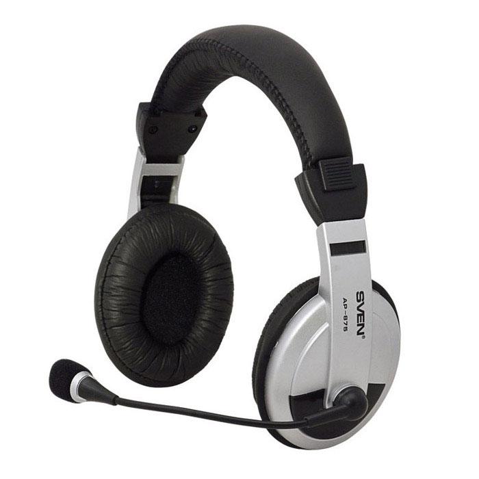 Sven AP-875 наушники с микрофономSV-0410875Гарнитура Sven AP-875 со встроенным микрофоном и регулятором громкости идеально подходит для прослушивания музыки и просмотра фильмов, компьютерных игр и голосового чата через Интернет. Наушники эргономичны и удобны в использовании, отличаются прекрасной звукоизоляцией и безупречным качеством звука.