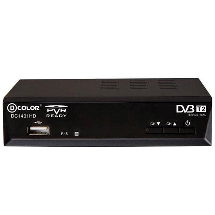 D-Color DC1401HD DVB-T2 цифровой ТВ-тюнер6907325814012Цифровой ТВ-тюнер D-Color DC1401HD отвечает всем самым современным требованиям к цифровым ресиверам. Новейшее ПО и качественные комплектующие позволяют передавать четкую, яркую, сочную картинку даже в самых отдаленных регионах России. Процессор: Ali 3812 со встроенным демодулятором Panasonic Mn88472 Тип корпуса: металлический Диапазон принимаемых частот: 174-862 MГц