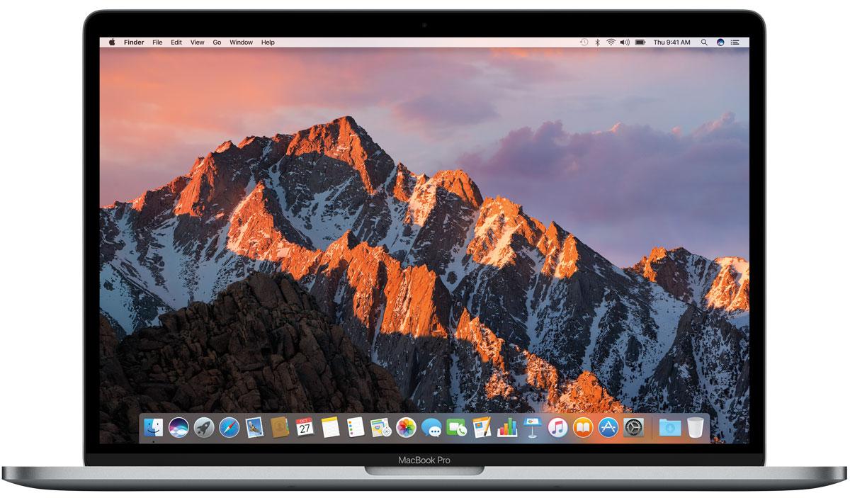 Apple MacBook Pro 15, Space Grey (MLH42RU/A)MLH42RU/AApple MacBook Pro стал ещё быстрее и мощнее. У него самый яркий экран и лучшая цветопередача среди всех ноутбуков Mac. Новый MacBook Pro задаёт совершенно новые стандарты мощности и портативности ноутбуков. Вы сможете воплотить любую идею, ведь в вашем распоряжении самые передовые графические процессоры и накопители, невероятная вычислительная мощность и многое, многое другое. MacBook Pro оснащён SSD-накопителем со скоростью последовательного чтения до 3,1 ГБ/с, что значительно превосходит характеристики предыдущего поколения. И память встроенных накопителей работает быстрее. Всё это позволяет мгновенно запускать систему, управлять множеством приложений и работать с большими файлами. Благодаря процессорам Intel Core 6-го поколения, MacBook Pro демонстрирует невероятную производительность даже при выполнении самых ресурсоёмких задач, таких как рендеринг 3D-моделей или конвертация видео. А когда вы выполняете простые задачи, например,...