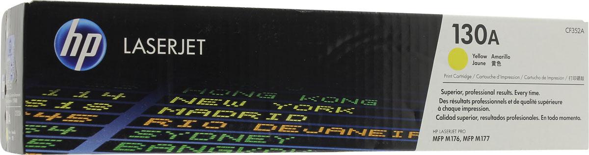 HP CF352A (130A), Yellow картридж для LaserJet Pro M153/M176/M177CF352AРасходные материалы для печати HP 130 LaserJet обеспечивают эффективность вашей работы дома и в офисе. Печатайте документы и маркетинговые материалы профессионального качества. Забудьте о напрасной трате времени и расходных материалов: оригинальные картриджи HP специально разработаны для вашего цветного многофункционального устройства HP LaserJet Pro. Оригинальные картриджи HP обеспечивают стабильно высокое качество печати. Забудьте о повторной печати, напрасно потраченных расходных материалах и задержках, которые могут возникнуть при работе с повторно заправленными картриджами и привести к дополнительным расходам. Сделайте выбор в пользу развития бизнеса. Использование оригинальных картриджей HP гарантирует качественную, надежную печать, позволяя выполнять поставленные задачи в рамках бюджета. Не тратьте время впустую. Несколько секунд на замену оригинальных картриджей HP - и ваш принтер снова готов к работе. Картриджи HP предназначены специально для...