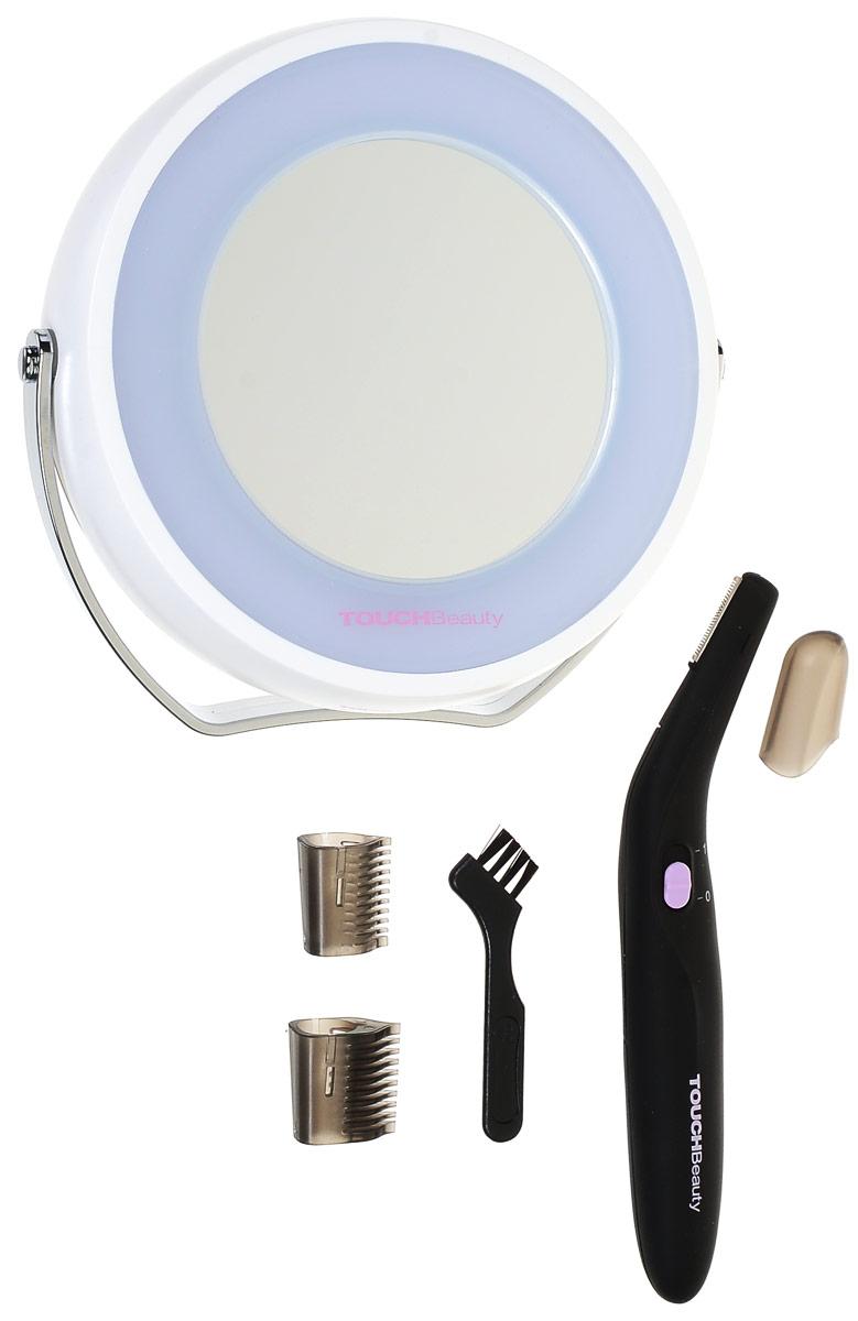 Косметический набор Touchbeauty AS-1001AS-1001В набор Touchbeauty AS-1001 входит электрический триммер и зеркало с подсветкой. Очень удобный и практичный в применении комплект для оформления линии бровей, для зоны бикини и т.д. В комплект входят 3 насадки для разной длины волос и зеркало с удобной ручкой-подставкой.