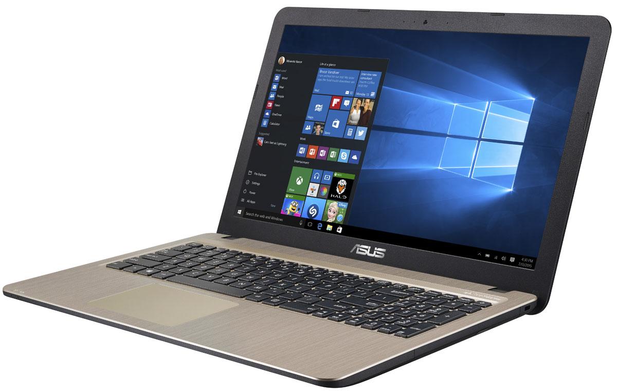 ASUS VivoBook X540SA, Chocolate Black (X540SA-XX032T)90NB0B31-M00800Asus VivoBook X540SA - это современный стильный ноутбук для ежедневного использования как дома, так и в офисе. Для быстрого обмена данными с периферийными устройствами X540SA предлагает высокоскоростной порт USB 3.1 (5 Гбит/с), выполненный в виде обратимого разъема Type-C. Его дополняют традиционные разъемы USB 2.0 и USB 3.0. В число доступных интерфейсов также входят HDMI и VGA, которые служат для подключения внешних мониторов или телевизоров, и разъем проводной сети RJ-45. Кроме того, у данной модели имеется кард-ридер формата SD/SDHC/SDXC. Благодаря эксклюзивной аудиотехнологии SonicMaster встроенная аудиосистема ноутбука может похвастать мощным басом, широким динамическим диапазоном и точным позиционированием звуков в пространстве. Кроме того, ее звучание можно гибко настроить в зависимости от предпочтений пользователя и окружающей обстановки. Круглые динамики с большими резонансными камерами (19,4 см3) обеспечивают улучшенную...