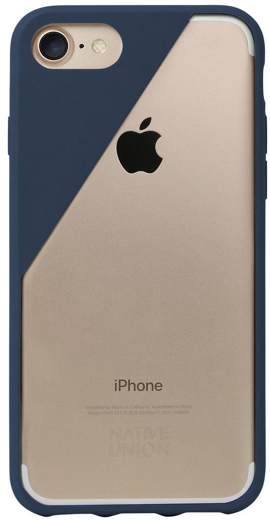 Native Union Clic Crystal чехол для iPhone 7, BlueCLICCRL-MAR-7Чехол Native Union Clic Crystal идеально подстраивается под iPhone 7, практически не увеличивая его в размерах. Выполнен из ударопоглощающих полимеров, защищающих от падений. Выступающая рамка по бокам экрана обеспечит его целостность. Имеется свободный доступ ко всем разъемам и кнопкам устройства. В этом чехле ваш телефон - индивидуальность, также как и вы сами. Чехол Native Union Clic Crystal сохраняет оригинальный стиль iPhone. Основным элементом задней панели выступает прочный и прозрачный поликарбонат, оставляющий лидерство дизайна за металлическим корпусом iPhone. Тем не менее, стиль Native Union всё равно легко узнается благодаря отличительному, резкому скосу эластичного бампера.