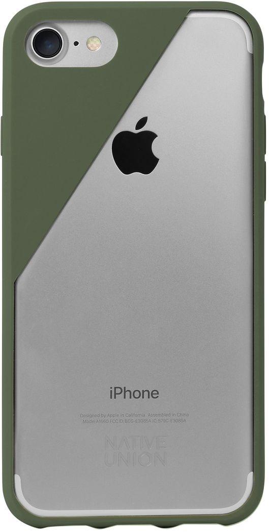 Native Union Clic Crystal чехол для iPhone 7, OliveCLICCRL-OLI-7Чехол Native Union Clic Crystal идеально подстраивается под iPhone 7, практически не увеличивая его в размерах. Выполнен из ударопоглощающих полимеров, защищающих от падений. Выступающая рамка по бокам экрана обеспечит его целостность. Имеется свободный доступ ко всем разъемам и кнопкам устройства. В этом чехле ваш телефон - индивидуальность, также как и вы сами. Чехол Native Union Clic Crystal сохраняет оригинальный стиль iPhone. Основным элементом задней панели выступает прочный и прозрачный поликарбонат, оставляющий лидерство дизайна за металлическим корпусом iPhone. Тем не менее, стиль Native Union всё равно легко узнается благодаря отличительному, резкому скосу эластичного бампера.