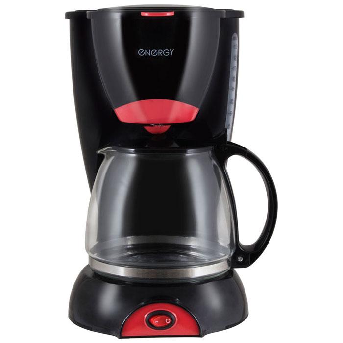 Energy EN-606, Black Red кофеварка54 152454Energy EN-606 - капельная кофеварка, которая не только порадует вас качественным исполнением, но и ароматным и невероятно вкусным кофе, с которым очень приятно начинать утро. Корпус выполнен из высококачественных и безопасных материалов, которые не влияют на вкус напитка. Съемный фильтр удобен в очистке. Благодаря оптимальной мощности, напитки готовятся за считанные минуты, и вы в короткое время сможете насладиться ароматным кофе. Кофеварка оснащена устойчивым основанием, которое служит для надежного закрепления прибора на поверхности. С Energy EN-606 вы сможете сделать заготовку кофе на 10-12 чашек и весь день наслаждаться любимым напитком.