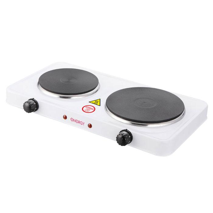 Energy EN-903, White настольная плита54 158903Energy EN-903 - компактная электрическая настольная плита. 2 конфорки позволят вам приготовить еду для небольшой семьи. Благодаря своим габаритам, данная модель отлично подойдет для маленькой кухни на даче. Она изготовлена из качественных материалов и прослужит вам долгое время. Размер конфорок: 155 мм + 185 мм Мощность: 1000 Вт + 1500 Вт