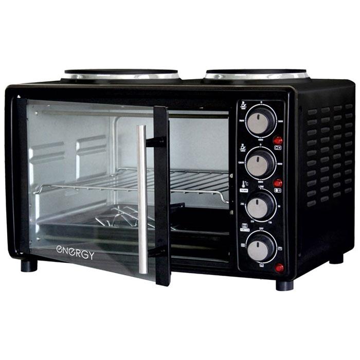 Energy GН25-В, Black мини-печь54 159997Energy GН25-В - компактная духовка с внутренним объемом 25 литров. Идеально подходит как для деликатного приготовления пищи, так и для приготовления блюд с хрустящей корочкой. Данная модель оснащена термостатом с диапазоном температур 90 - 250°С и двумя электрическими конфорками. Легко очищается, комплектуется решеткой для гриля и противнем для выпекания. Мощность конфорок: 1200 Вт, 700 Вт Мощность духовки: 1400 Вт 2 конфорки: 185 мм, 155 мм