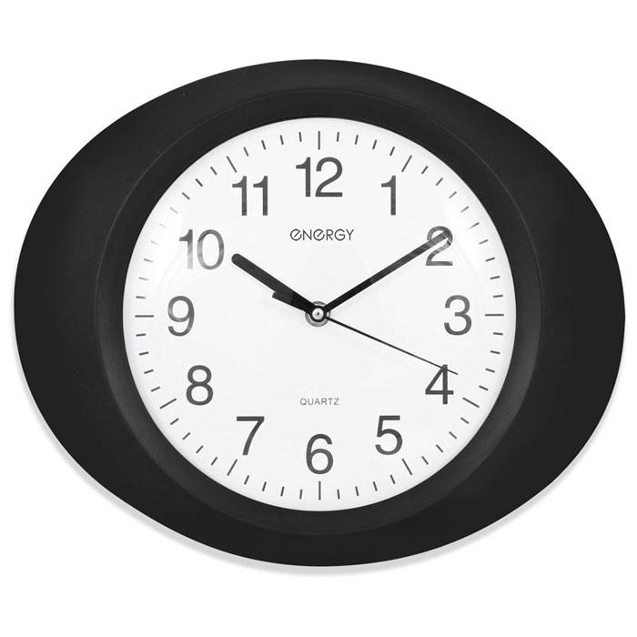Energy ЕС-04, Black White настенные часы54 009304Настенные кварцевые часы с плавным ходом Energy ЕС-04 имеют классический строгий дизайн и поэтому подойдут как для дома, так и для офиса. Крупные цифры черного цвета на белом фоне отлично различимы даже в условиях плохого освещения. Питание осуществляется от 1 батарейки типа АА (в комплект не входят).