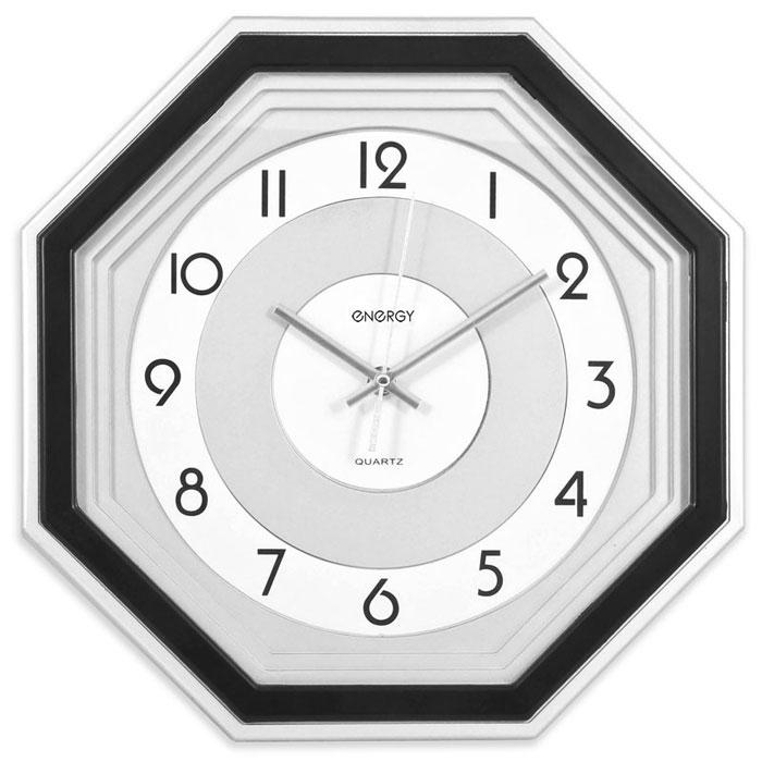 Energy ЕС-12, Black White Silver настенные часы