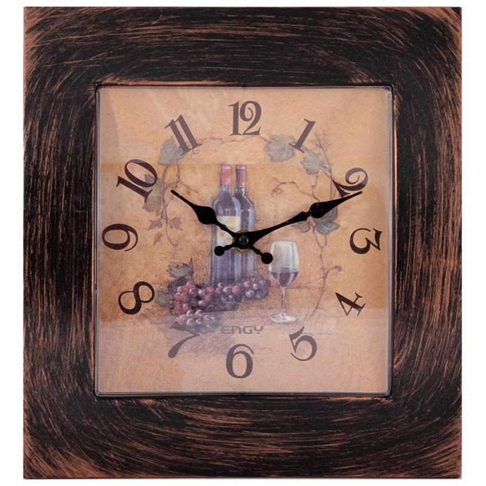 Engy ЕС-20, Brown Black настенные часы54 009320Настенные кварцевые часы с плавным ходом Engy ЕС-20 имеют оригинальный дизайн под старину и поэтому подойдут для вашего дома или офиса, декорированного в подобном стиле. Крупные цифры черного цвета на светло-коричневом фоне отлично различимы даже в условиях плохого освещения. Питание осуществляется от 1 батарейки типа АА (в комплект не входит).