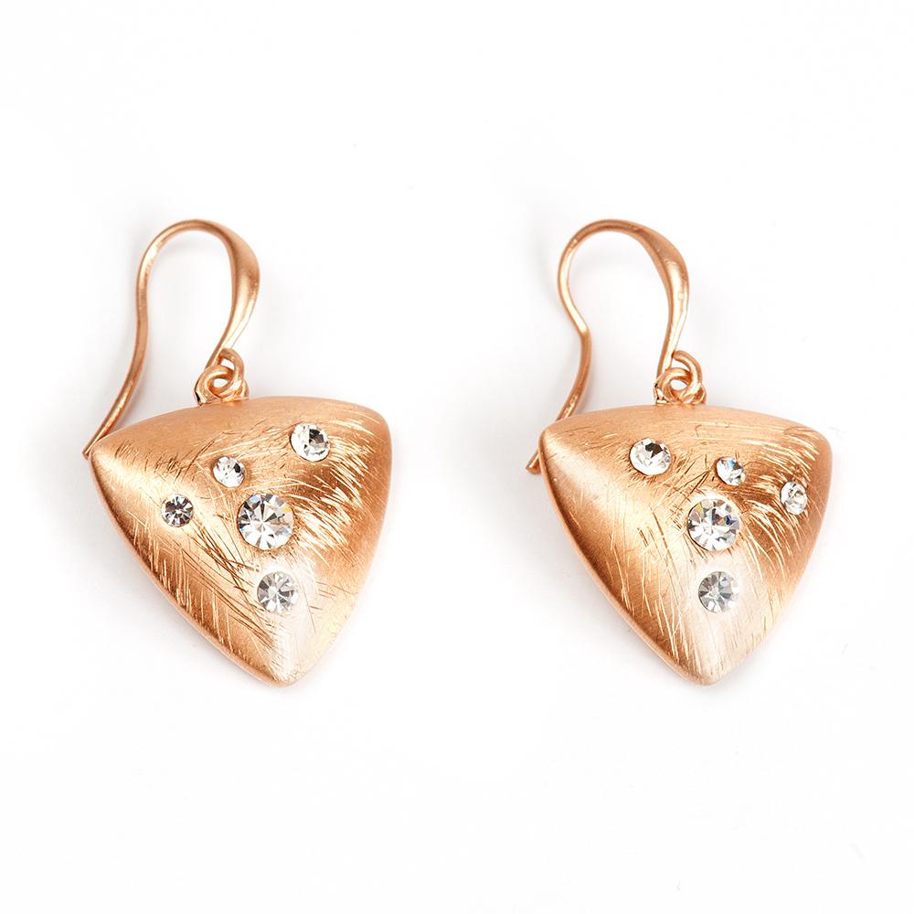 Серьги Selena, цвет: золотистый. 2009401020094010Латунь, кристаллы Preciosa. Гальваническое покрытие: матовое золото., длина серег 3.5 см ширина 2 см