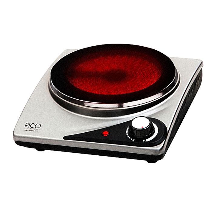 Ricci RIC-3106i, Silver Black инфракрасная настольная плита17 RIC-3106iНастольная инфракрасная варочная плитка Ricci RIC-3106i для быстрого разогрева и приготовления разнообразных блюд имеет плавную регулировку температуры и световой индикатор включения, а благодаря компактным размерам станет незаменимым помощником на даче или небольшой кухне. Защита от перегрева обеспечивает безопасное использование прибора. Корпус из нержавеющей стали