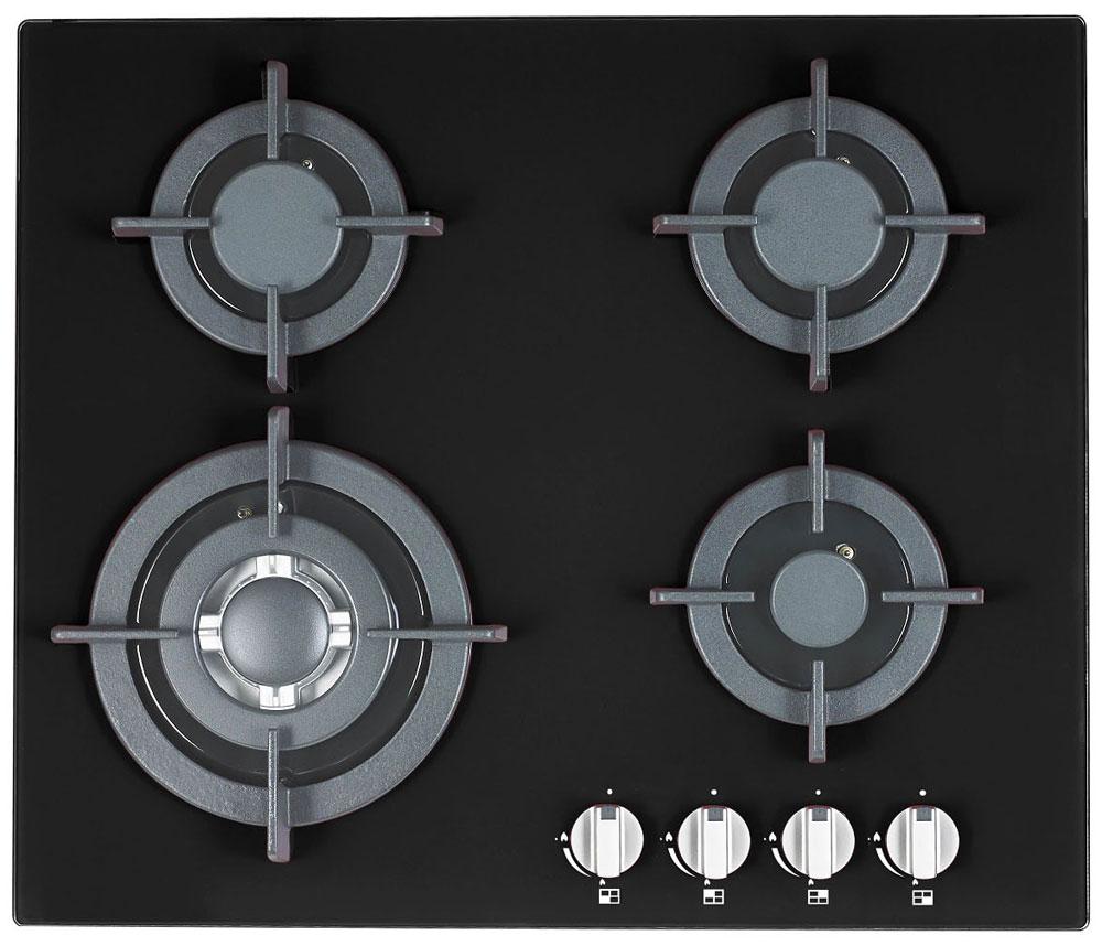 Ricci RGH-6042-2, Black варочная панель72 RGH-6042-2Ricci RGH-6042-2 - надежная газовая варочная панель с прочными чугунными решетками и поверхностью из закаленного стекла. Она оснащена четырьмя конфорками и обладает независимым управлением. Панель также имеет простое механическое управление с автоматическим электроподжигом. Мощность конфорок: 1х1 кВт + 2х3,5 кВт + 2х1,75 кВт Газ-контроль конфорок Ручки: пластик Длина провода: 1 м