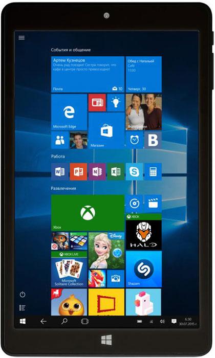 BB-mobile Techno W8.0 3G Q800AY, BlackQ800AYBB-mobile Techno W8.0 3G Q800AY - компактный и быстрый планшет с поддержкой привычных приложений для настольного ПК и встроенным 3G-модулем. Операционная система Windows 10 на планшетных компьютерах BB-mobile Techno ничем не отличается от такой же ОС на ноутбуке или настольном ПК – ни интерфейсом, ни функциональными возможностями. Четырехъядерный процессор Intel Atom Z3735F и 2 ГБ оперативной памяти обеспечивают плавную работу операционной системы и быстрый запуск даже тяжелых приложений. Вы можете открывать в браузере большое количество вкладок, а также сворачивать приложения и игры без их последующего перезапуска во время повторного открытия. Для хранения информации и установки программ предусмотрено 32 ГБ встроенной памяти. Также планшет поддерживает карты памяти популярного формата MicroSD, так что нехватки места точно не будет. Емкость встроенного аккумулятора составляет 4000 мАч. При довольно активном режиме эксплуатации планшета одного...