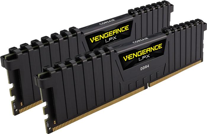 Corsair Vengeance LPX DDR4 2x8Gb 3200 МГц комплект модулей оперативной памяти (CMK16GX4M2B3200C16)CMK16GX4M2B3200C16Модули памяти Vengeance LPX разработаны для более эффективного разгона процессора. Теплоотвод выполнен из чистого алюминия, что ускоряет рассеяние тепла, а восьмислойная печатная плата значительно эффективнее распределяет тепло и предоставляет обширные возможности для разгона. Каждая интегральная микросхема проходит индивидуальный отбор для определения уровня потенциальной производительности. Форм-фактор DDR4 оптимизирован под новейшие материнские платы серии Intel X99/100 Series и обеспечивает повышенную частоту, расширенную полосу пропускания и сниженное энергопотребление по сравнению с модулями DDR3. В целях обеспечения стабильно высокой производительности модули Vengeance LPX DDR4 проходят тестирование совместимости на материнских платах серии X99/100 Series. Имеется поддержка XMP 2.0 для удобного разгона в автоматическом режиме. Максимальная степень разгона ограничивается рабочей температурой. Уникальный дизайн теплоотвода Vengeance LPX...
