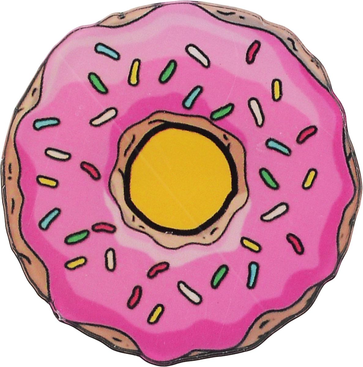 Брошь Kawaii Factory Пончик, цвет: розовый, желтый. KW088-000020KW088-000020Оригинальная брошь Kawaii Factory Пончик изготовлена из пластика и металла. Изделие выполнено в виде пончика и застегивается при помощи замка-булавки.