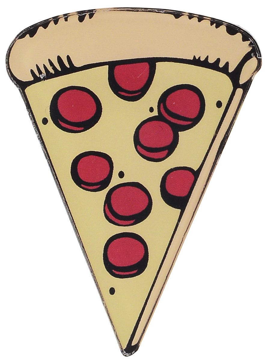 Брошь Kawaii Factory Пицца, цвет: бежевый, красный. KW088-000047KW088-000047Оригинальная брошь Kawaii Factory Пицца изготовлена из пластика. Изделие оформлено в виде кусочка пиццы и застегивается на удобный замок- булавку.