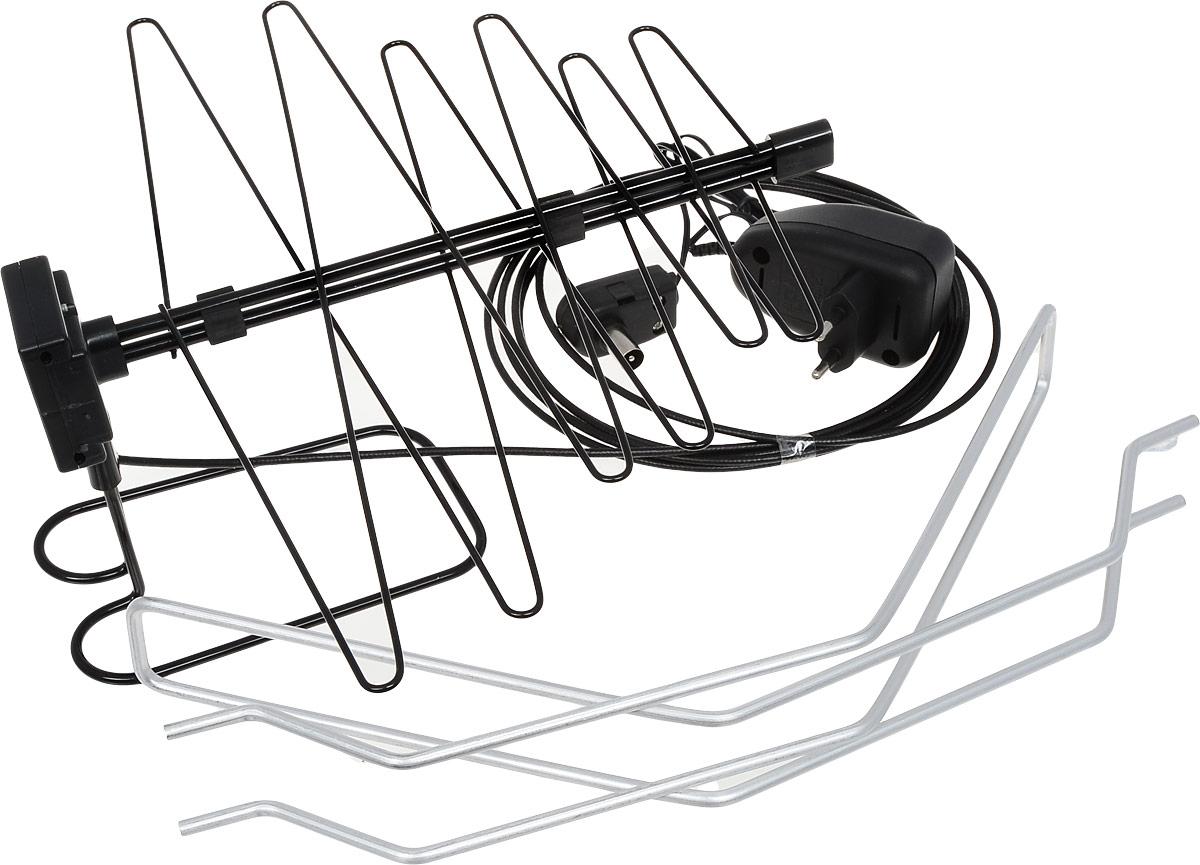 D-Color DCA-121A комнатная ТВ антенна (активная)4603725280076ТВ антенна с усилителем D-Color DCA-121A может быть использована для приема как обычных аналоговых, так и цифровых телеканалов. Удобная надежная подставка и небольшие размеры этой комнатной антенны позволяют размещать ее даже на небольших площадях.