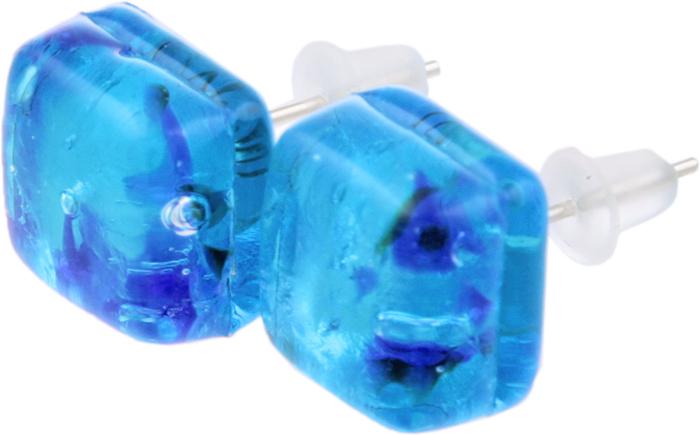 Серьги-пусеты Индиго. Муранское стекло, бижутерный сплав серебряного тона, ручная работа. Murano, Италия (Венеция)20090720Серьги-пусеты Индиго. Муранское стекло, бижутерный сплав серебряного тона, ручная работа. Murano, Италия (Венеция). Размер: 1 х 1 см. Каждое изделие из муранского стекла уникально и может незначительно отличаться от того, что вы видите на фотографии.
