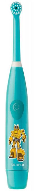 CS Medica KIDS CS-461-B, Light Blue электрическая зубная щеткаKIDS CS-461-BCS Medica KIDS CS-461-B - электрическая зубная щетка для мальчиков со съемной насадкой. Модель состоит из основания-ручки и сменной насадки с малой круглой вращающейся головкой. Щетинки мягкие, не травмируют зубки и десны ребенка. Головка щетки, бережно совершая 18 000 возвратно-вращательных движений в минуту, производит всестороннюю очистку поверхности зубов. Главная отличительная особенность электрических ротационных щеток CS Medica KIDS CS – 461 от других щеток этого вида в том, что насадку с круглой вращающейся головкой можно быстро и просто заменить на новую. Яркие герои привлекут внимание детей и превратят обычный процесс чистки зубов в увлекательное занятие- игру в мире фантазий и грез.