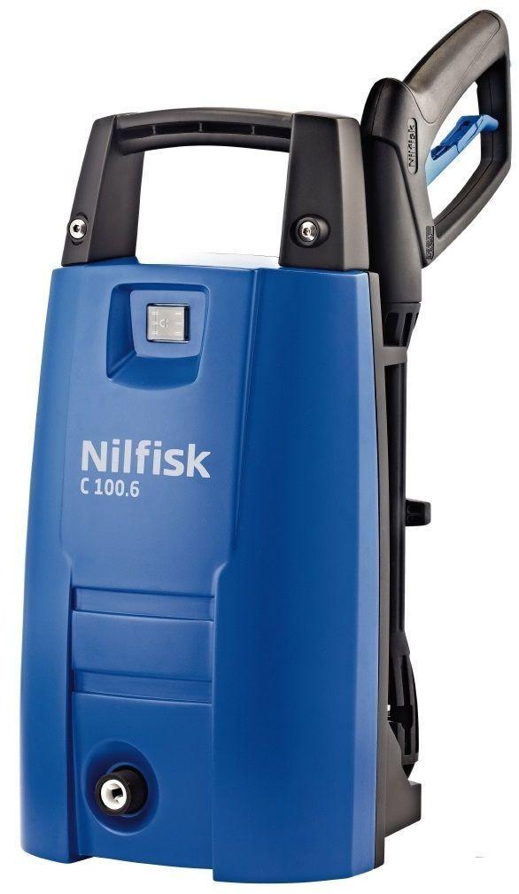 Бытовая моечная машина Nilfisk C 100.6-5128470321NILFISK C 100.6–5 — компактная мойка высокого давления, предназначенная для всех, кто ценит простоту использования с максимальной эффективностью. Небольшой вес облегчает использование и хранение, в том числе и на стене.