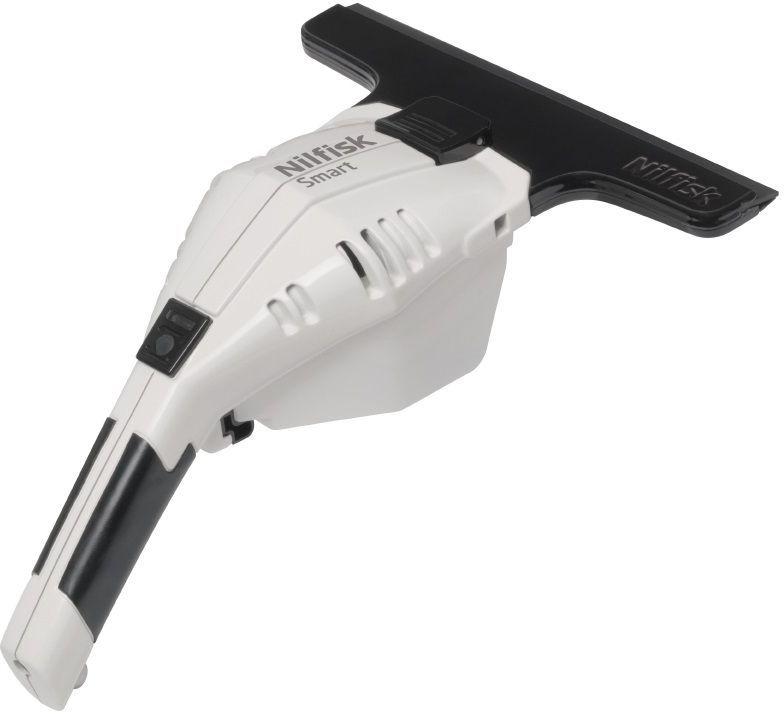 Бытовой стеклоочиститель Nilfisk SMART White18451176Новый аккумуляторный стеклоочиститель Nilfisk Smart обеспечивает мойку окон без разводов и справляется со своей работой очень быстро.Удобное устройство всасывает воду со стекла после мытья, не допуская подтеков грязной воды и разводов. Продуманный эргономичный дизайн позволяет легко мыть даже самые низкие подоконники и, если сравнивать с традиционными методами, мойка проходит заметно быстрее и проще. Аккумуляторный стеклоочиститель Nilfisk Smart также подходит для мойки зеркал и кафеля в домашнем хозяйстве. Это просто здорово. Особенности: Эргономичный дизайн Легкий вес Контейнер для грязной воды 100мл Длительное время работы аккумулятора Зажим для крепления к поясному ремню