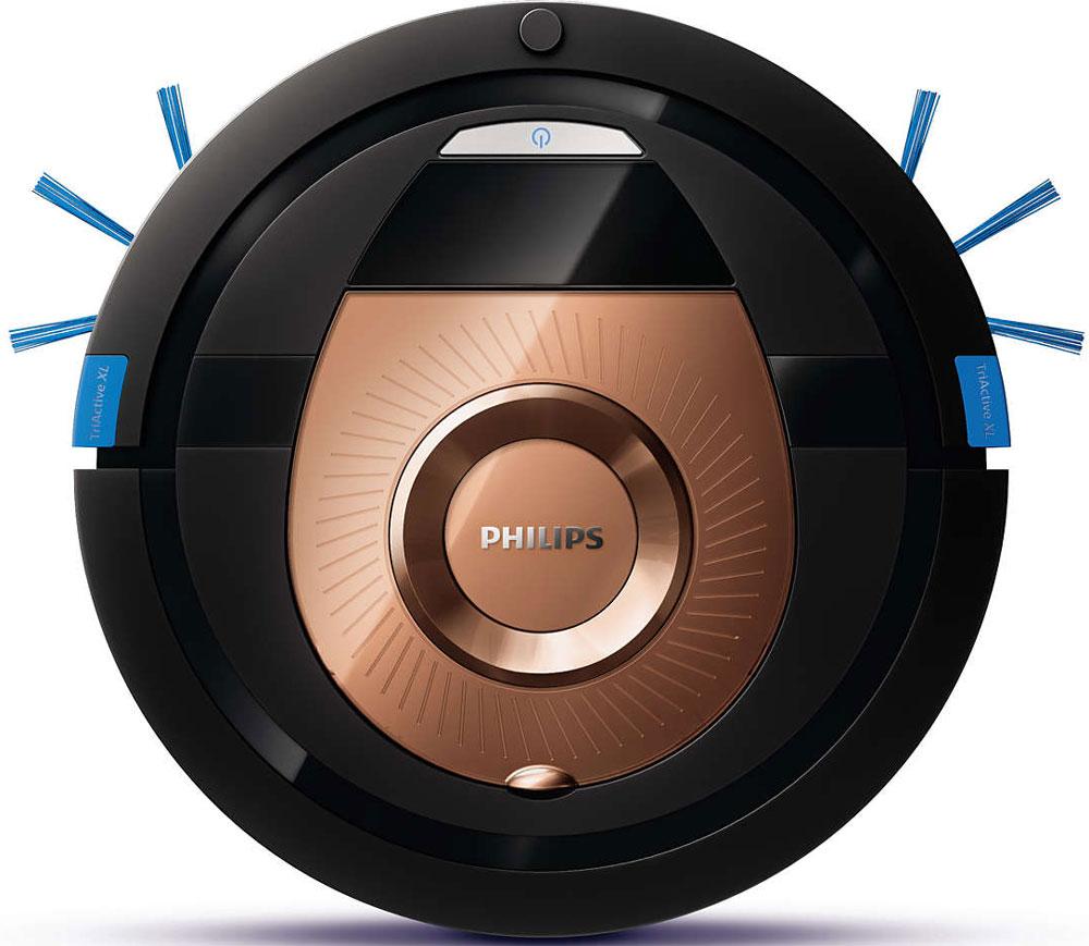 Philips FC8776/01 робот-пылесосFC8776/01Philips SmartPro Compact — это робот-пылесос, который в два раза быстрее выполняет за вас уборку благодаря более широкой насадке TriActive XL. Система Smart Detection выбирает оптимальный режим для тщательной уборки дома. Насадка TriActive XL обеспечивает эффективную и тщательную уборку в два раза быстрее благодаря следующим особенностям: 1. Широкая насадка в два раза увеличивает площадь охвата напольного покрытия за одно движение. 2. Три всасывающих отверстия собирают пыль впереди и по обеим сторонам. 3. Гибкая полоска позволяет тщательно собрать всю оставшуюся пыль. Благодаря тонкому корпусу 6 см робот-пылесос легко убирает грязь под мебелью и в других труднодоступных местах. Робот-пылесос оснащен системой Smart Detection, которая представляет собой набор из интеллектуальных датчиков, гироскопа и акселерометра, что позволяет устройству самостоятельно выполнять уборку. Робот анализирует обстановку и выбирает оптимальный...