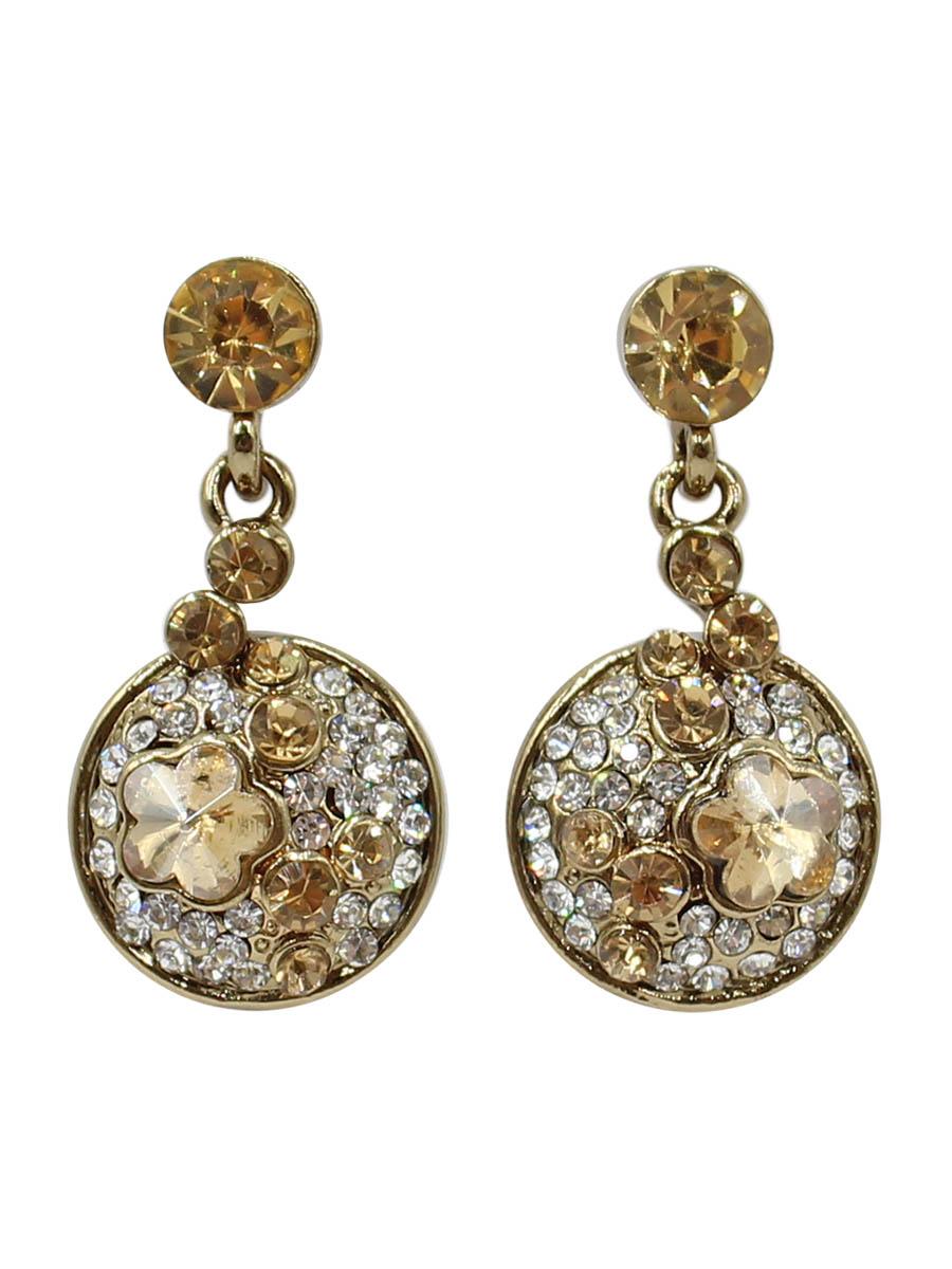 Серьги Taya, цвет: золотистый. T-B-12378T-B-12378-EARR-GOLDСерьги-гвоздики с заглушкой металл-пластик изготовлены из бижутерного сплава. Некрупные, симпатичные серьги с солнечными кристаллами. Идеальны на каждый день.