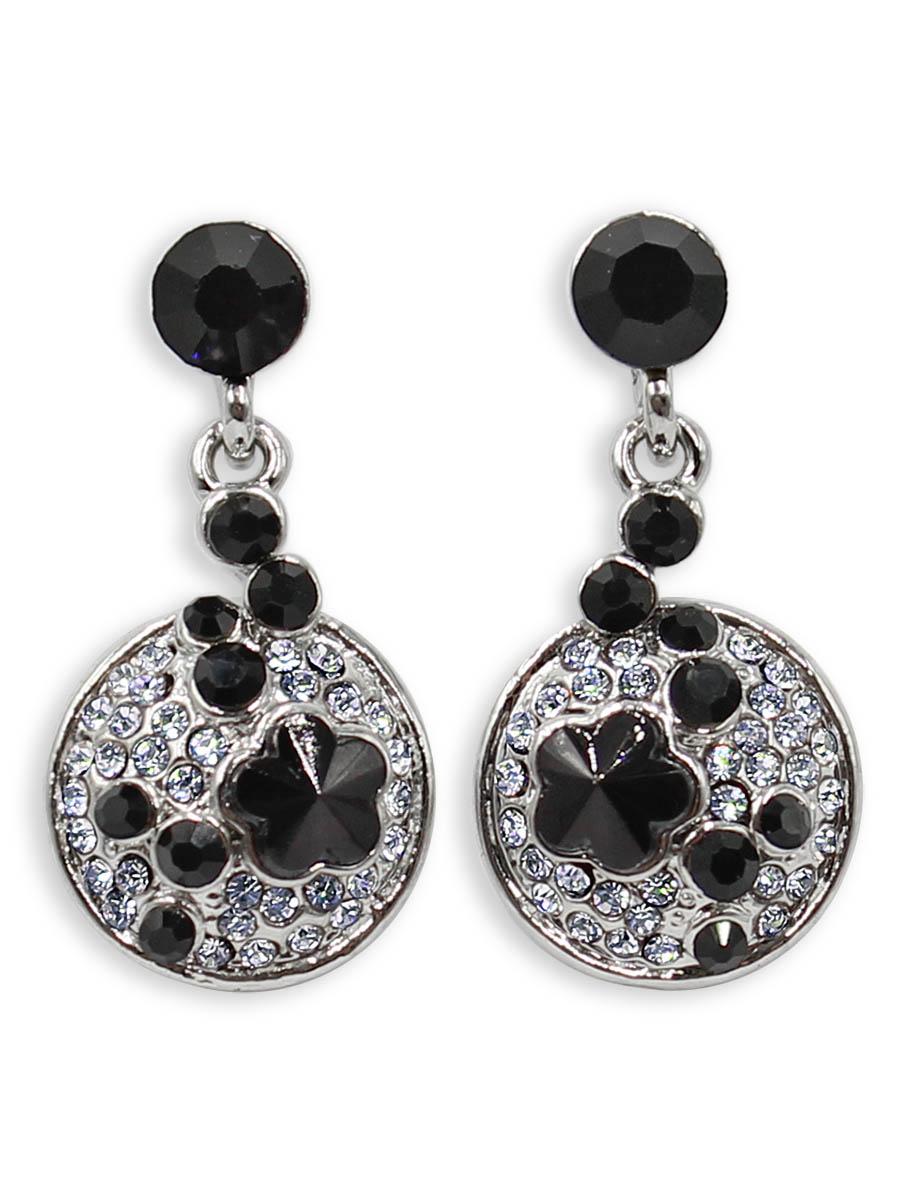 Серьги Taya, цвет: серебристый, черный. T-B-12380T-B-12380-EARR-SL.BLACKСерьги-гвоздики с заглушкой металл-пластик. Некрупные, симпатичные, скромные серьги с черными кристаллами. Идеальны на каждый день. Размеры: длина 2,8 см, ширина 1,4 см