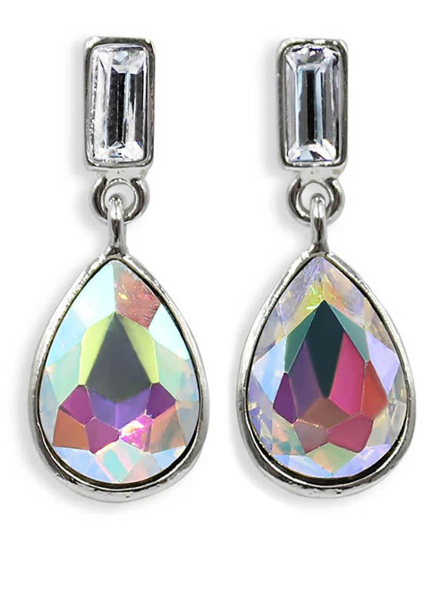 Серьги Taya, цвет: серебристый, разноцветный. T-B-12389T-B-12389-EARR-SL.MULTIСерьги-гвоздики с заглушкой металл-пластик изготовлены из бижутерного сплава. Милые серьги на каждый день с каплевидным кристаллом.