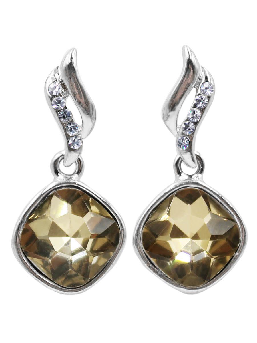 Серьги Taya, цвет: серебристый, золотистый. T-B-12466T-B-12466-EARR-SL.GOLDСерьги-гвоздики с заглушкой металл-пластик. Мелкие серьги с песочно-желтым кристаллом. Идеально подчеркнут ваш образ каждый день.