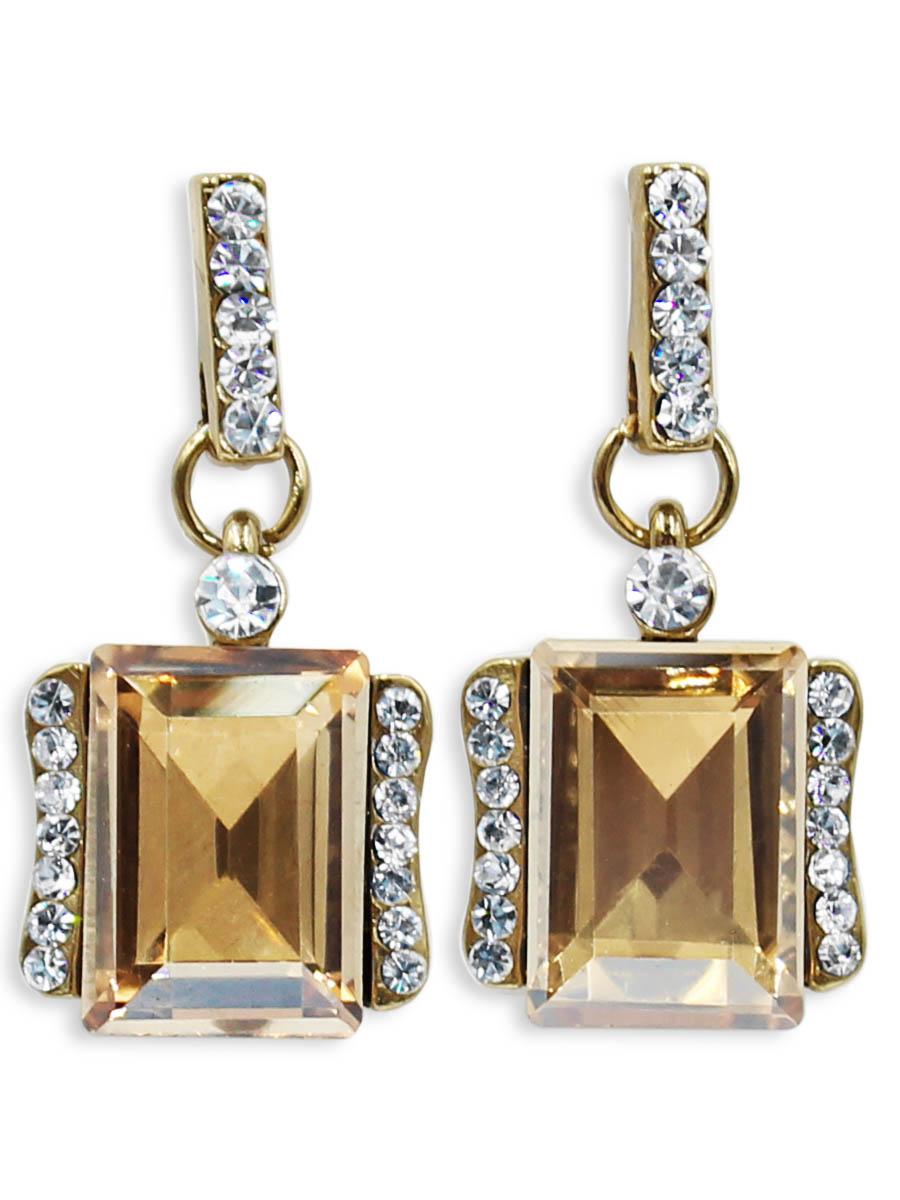 Серьги Taya, цвет: серебристый, золотистый. T-B-12470T-B-12470-EARR-SL.GOLDСерьги-гвоздики с заглушкой металл-пластик. Классическая форма с большим камнем по середине и спокойные тона делают эти серьги идеальными на каждый день.