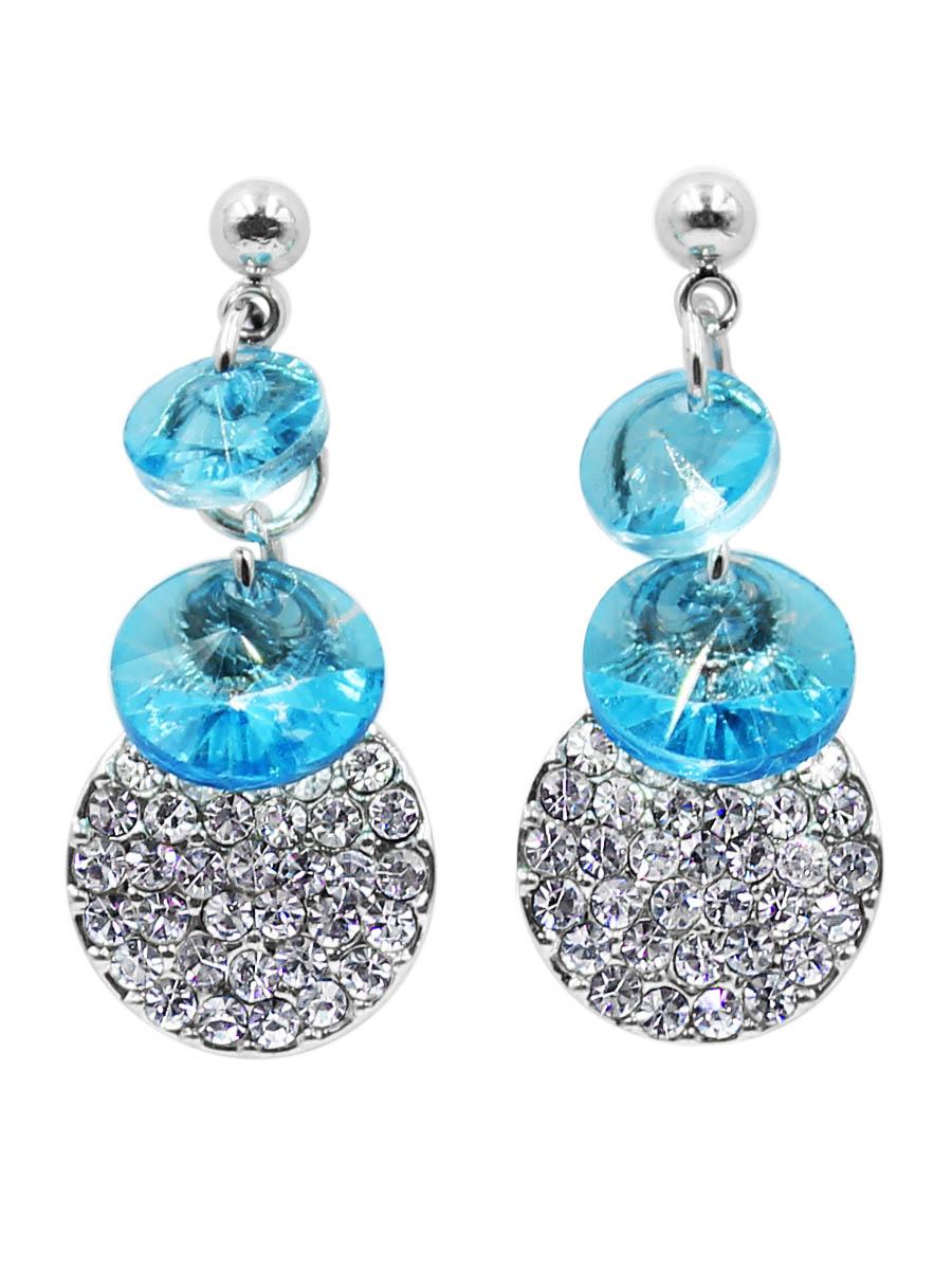 Серьги Taya, цвет: серебристый, синий. T-B-12474T-B-12474-EARR-SL.BLUEСерьги-гвоздики с заглушкой металл-пластик.Миленькие, по-детски наивные сережки, с двумя плоскими нежно-голубыми кристаллами. Размеры: длина серьги 2,5 см, ширина 1,0 см.