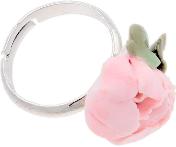 """Кольцо коктейльное """"Розовый пион"""". Фарфор, роспись, бижутерный сплав серебряного тона, ручная авторская работа. Россия Андрей Дионисиади"""