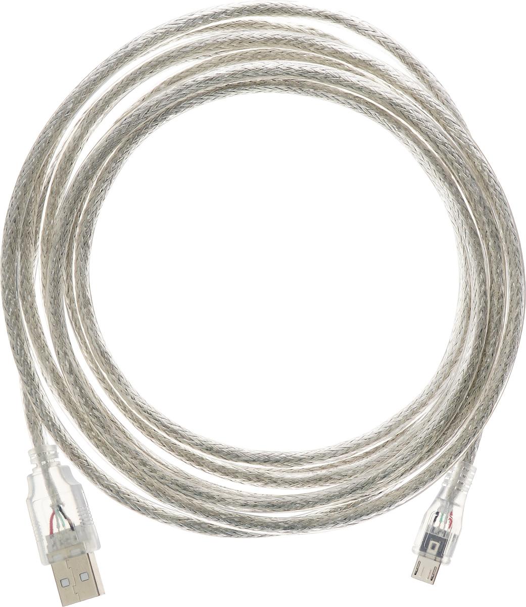 Greenconnect Premium GCR-UA2MCB2-BD2S, Clear кабель microUSB-USB 3 мGCR-UA2MCB2-BD2S-3.0mКабель Greenconnect Premium GCR-UA2MCB2-BD2S позволяет подключать мобильные устройства, которые имеют разъем microUSB к USB разъему компьютера. Подходит для повседневных задач, таких как синхронизация данных и передача файлов. Кабель имеет экранирование, что позволяет защитить сигнал при передаче от влияния внешних полей, способных создать помехи. Пропускная способность интерфейса: до 480 Мбит/с Тип оболочки: PVC (ПВХ)