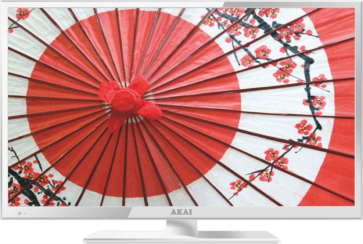 Akai LEA-24B53W телевизорLEA-24B53WТелевизор Akai LEA-24B53W соответствует всем современным технологиям и оборудован LED подсветкой, уменьшающей его толщину. Корпус из высококачественного пластика с экраном диагональю 23,6 дюймов впишется в любой интерьер. Источником сигнала для качественной реалистичной картинки служат не только цифровые эфирные и кабельные каналы, но и любые записи с внешних носителей, благодаря универсальному встроенному USB медиаплееру. Телевизор можно расположить как на столе, так и на настенном кронштейне, который приобретается отдельно. Akai LEA-24B53W обеспечит изображение высокого качества в формате Full HD (1920x1080). Формат экрана: 16:9 Яркость: 200 кд/м2 Контрастность: 1000:1 Время отклика матрицы: 8 мс